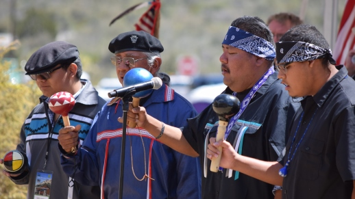 The Nuwuvi Bird Singers provided moving performances during the opening ceremony and later in the day on May 29, 2015.