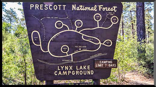 Map of Lynx Lake Campground