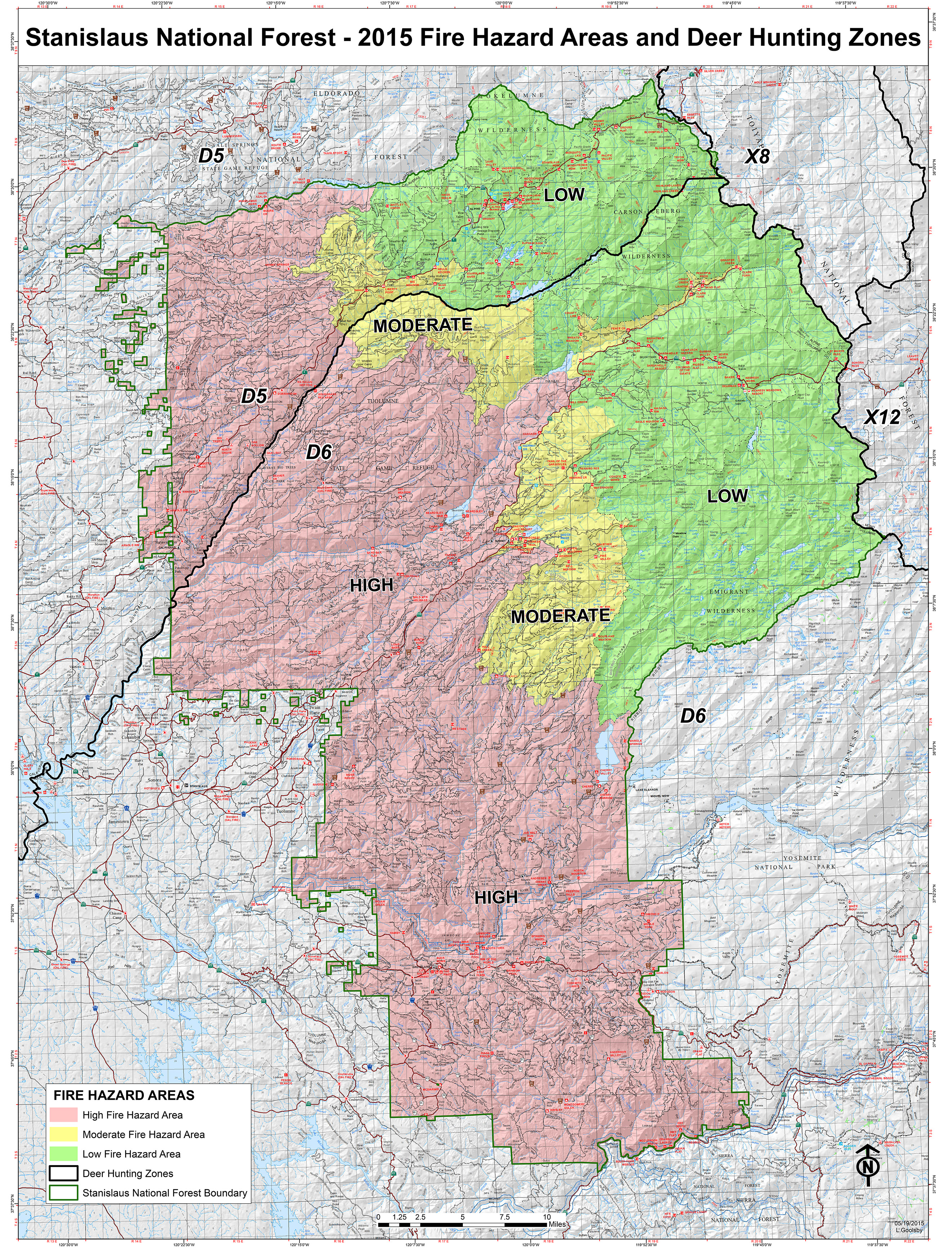 Stanislaus National Forest Maps  Publications - Us national forest fire map