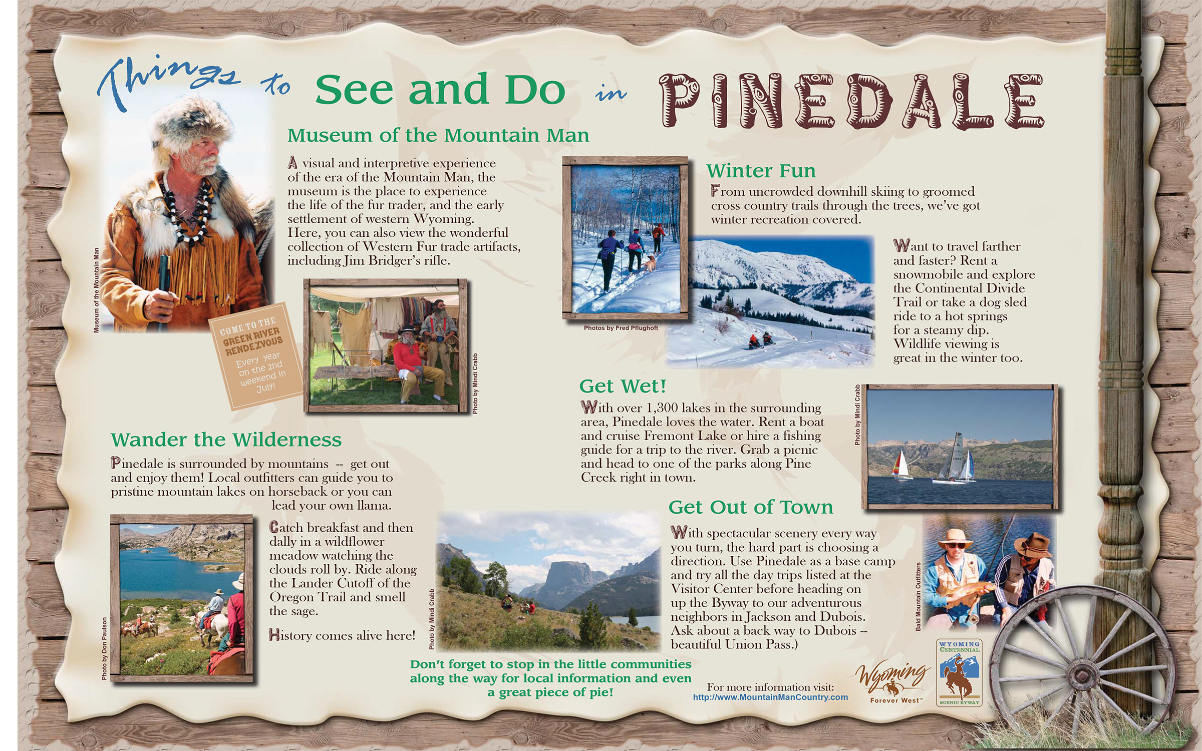Pinedale Things to Do Flyer