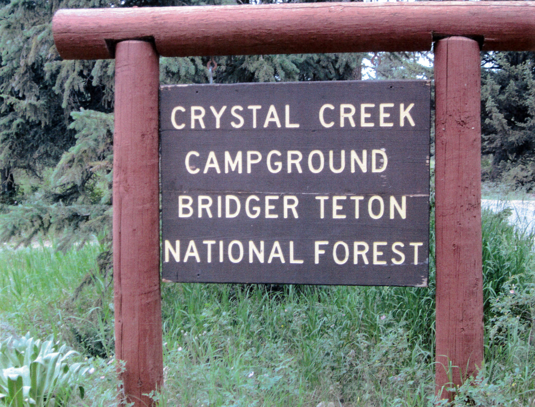 Bridger teton national forest crystal creek campground