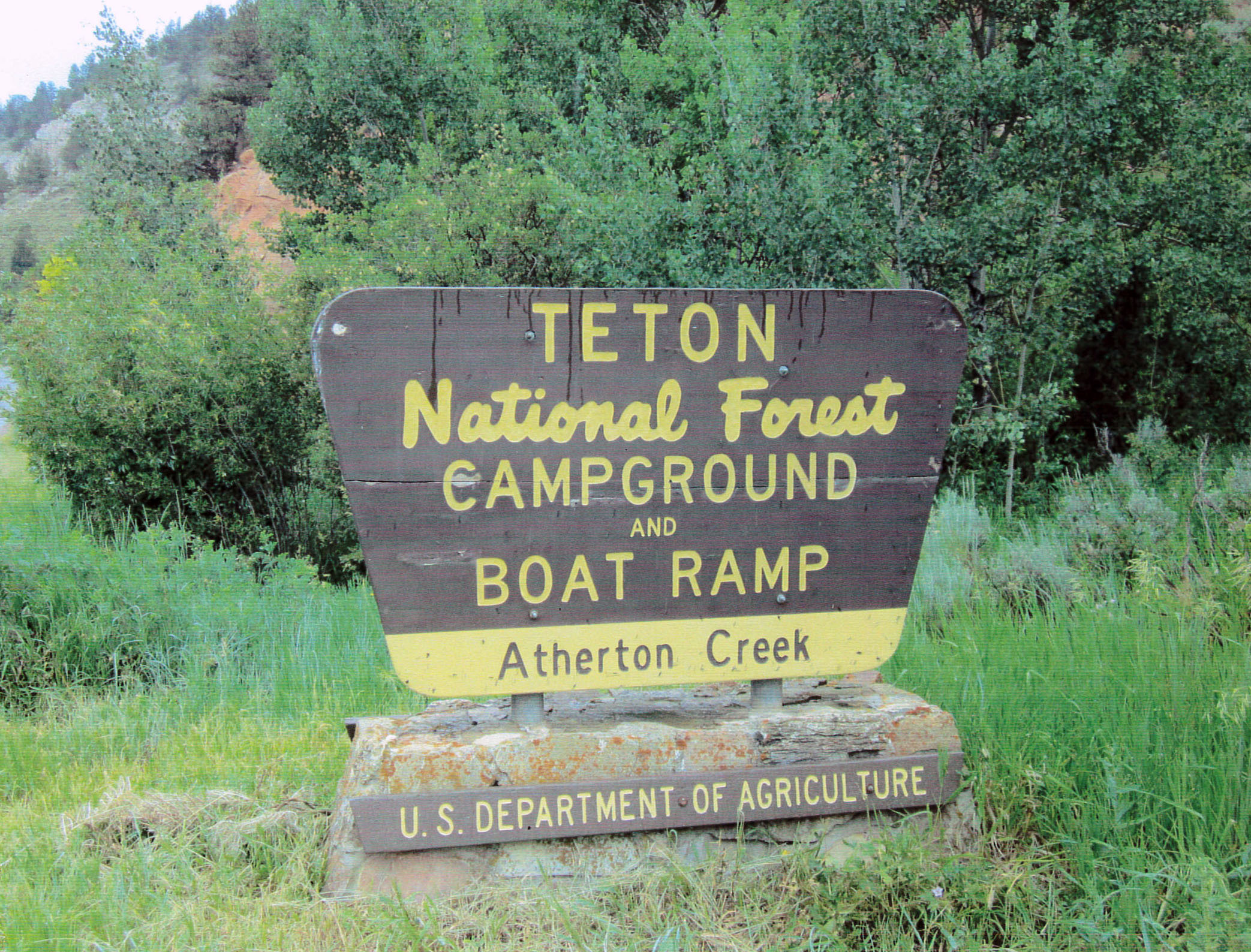 Atherton Campground Trail Sign