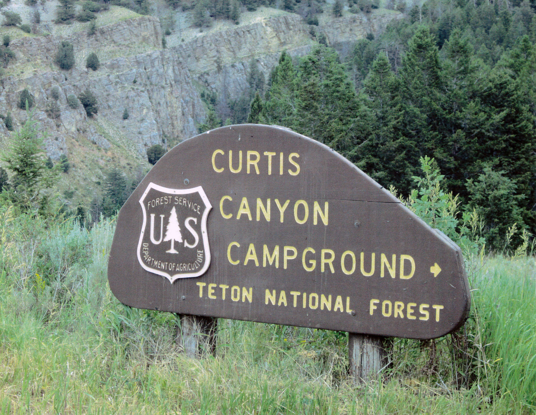 Curtis Canyon Campground Trail Sign