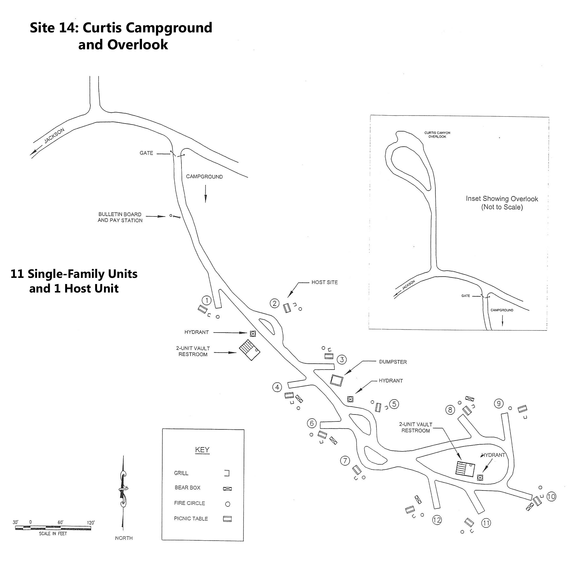 Curtis Campground Layout