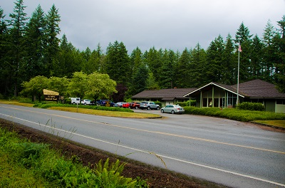 View of Hood Canal Ranger Station from across the road.