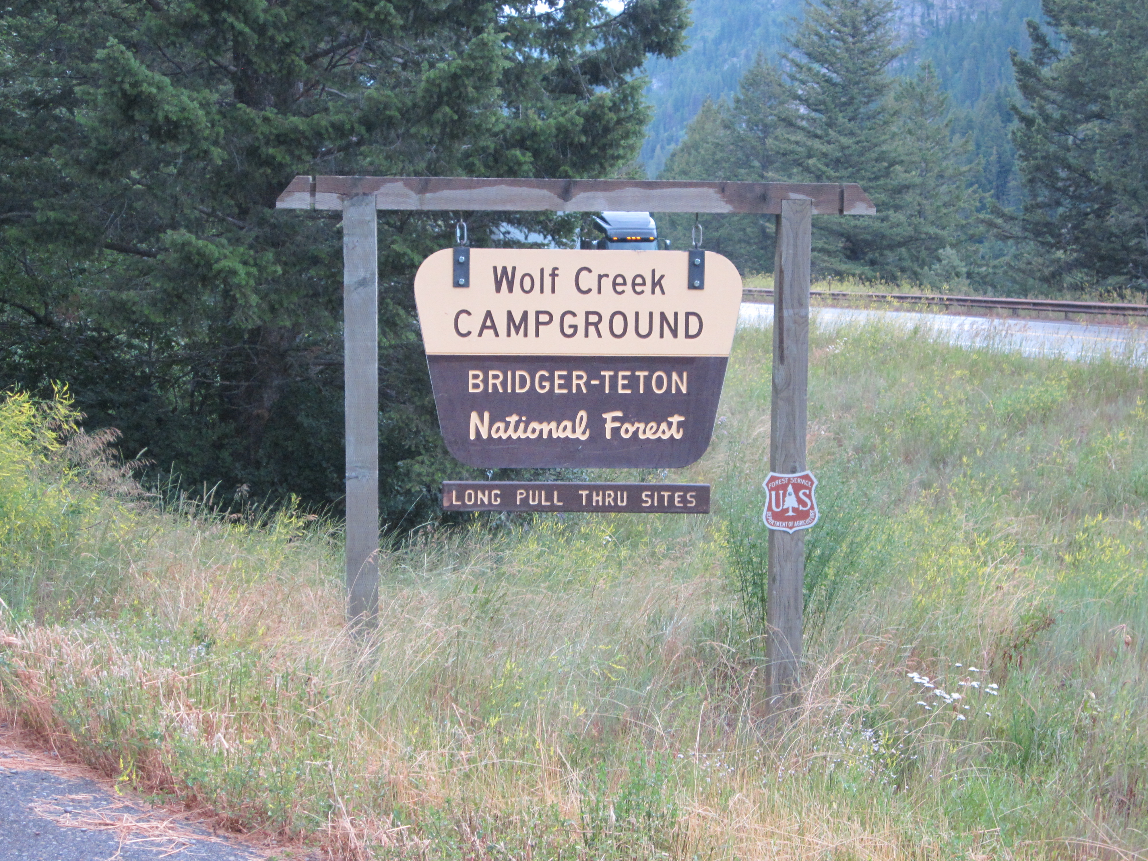 Wolf Creek Campground Trail Sign