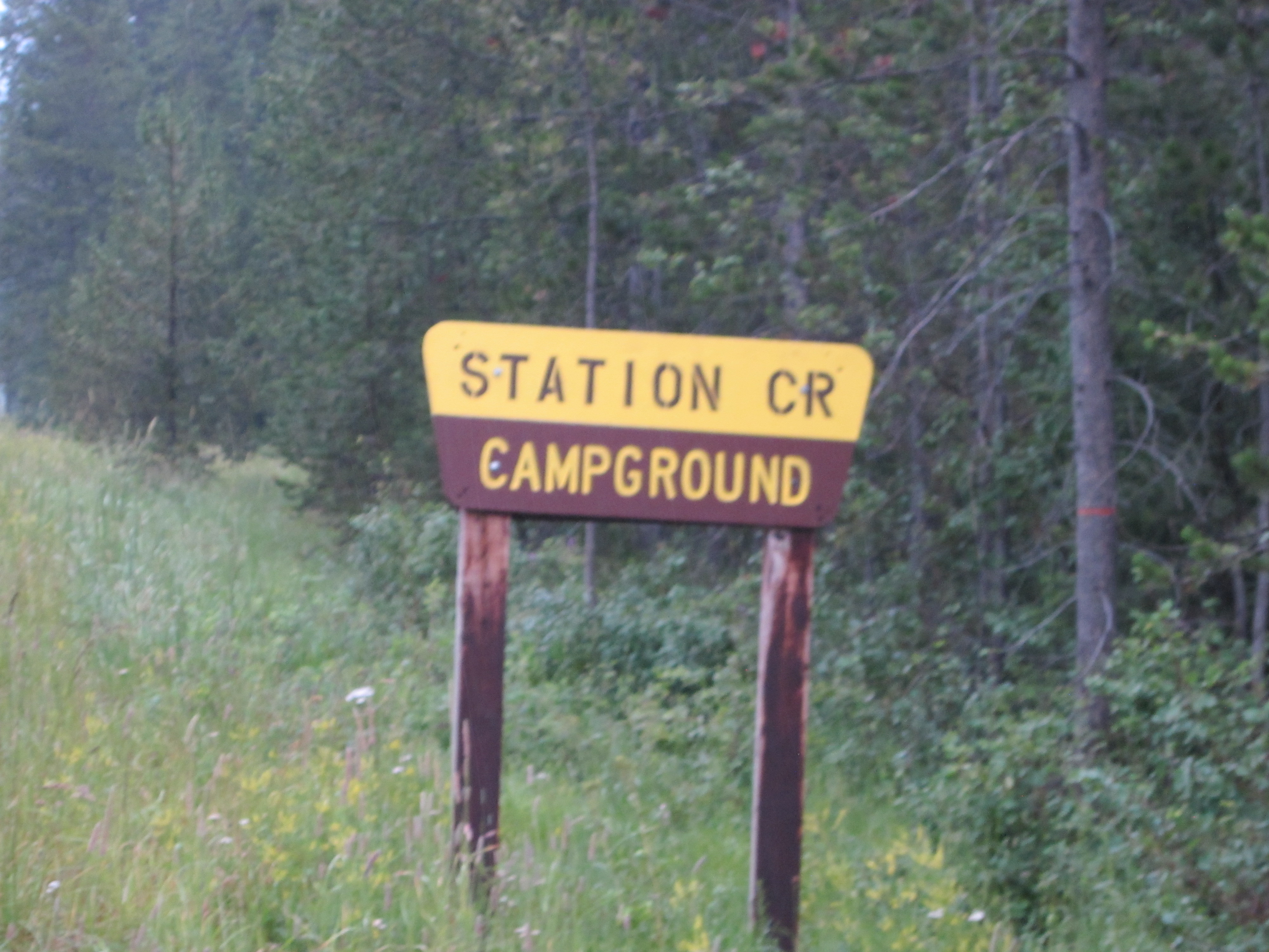 Station Creek Campground Trail Sign