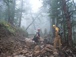 Boulder County Flood Crew helps stabilize trails in Lefthand OHV area.