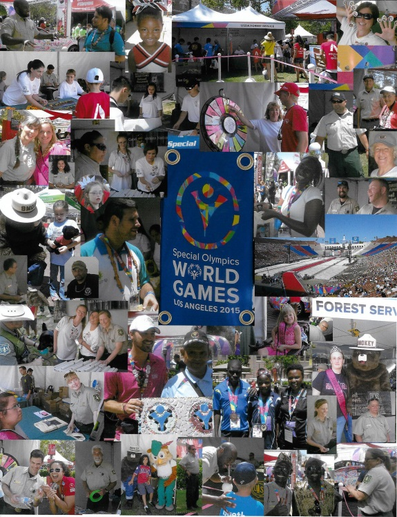 photo collage of FS particpation in the 2015 World Special Olympics