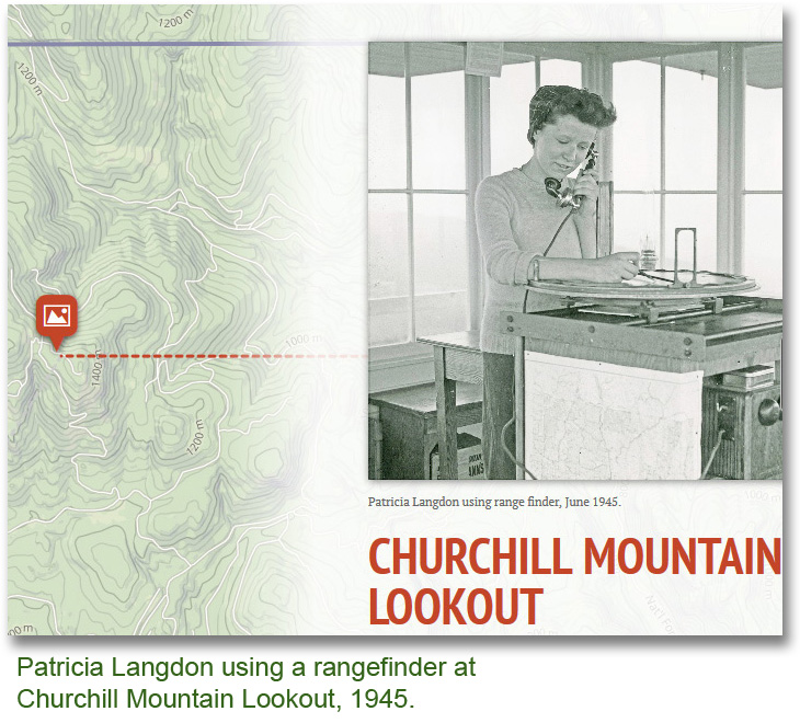 Patricia Langdon using a rangefinder at Churchill Mt Lookout, 1945.