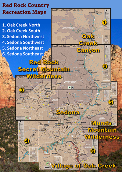 Image showing relative coverages of Red Rock Country recreation maps