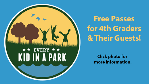 Click photo for information about free passes for 4th graders and their families.
