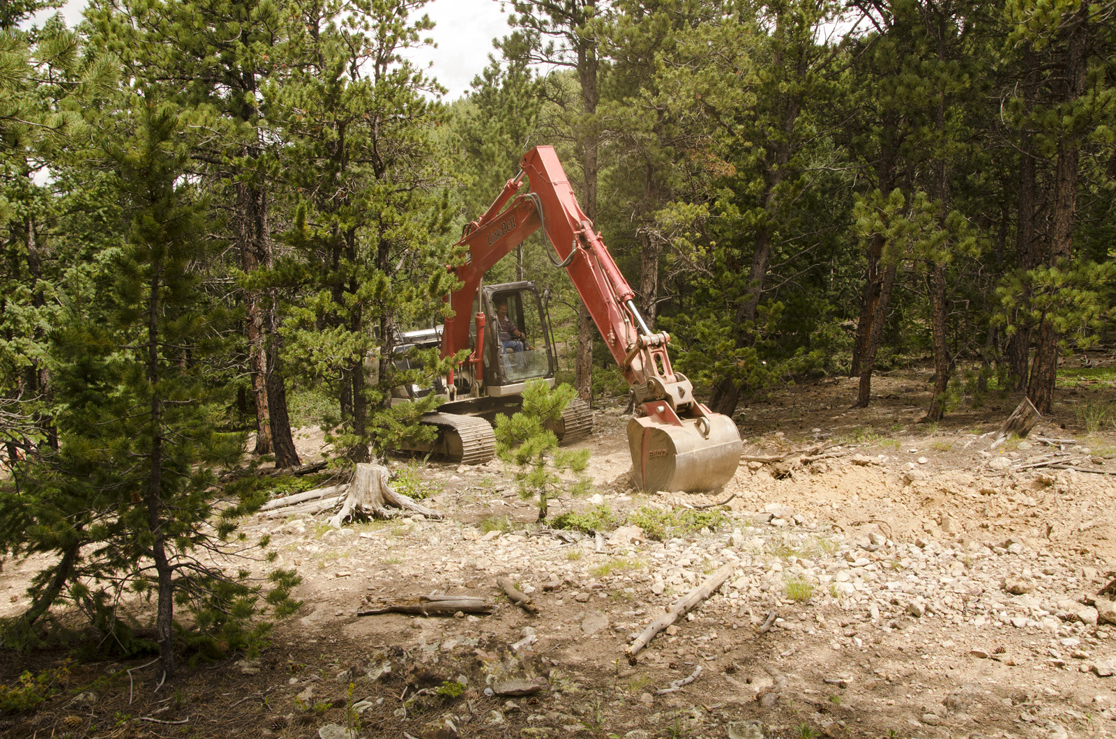 Bear Gulch Stabilization on the Boulder Ranger District.