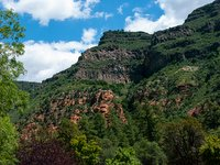 Lava-capped cliffs of Oak Creek Canyon