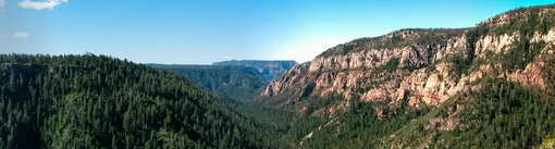 View of Oak Creek Canyon from Oak Creek Vista