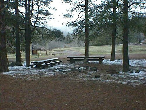 Head of the Ditch Campground in Winter