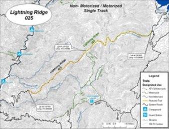 Boise National Forest Lightning Ridge Trail Emmett