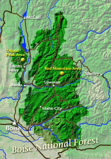 Boise National Forest Map