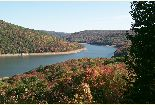 Forest Road 262 scenic overlook of southern arm of Allegheny Reservoir
