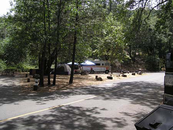 Campers at the Bailey Cove campground
