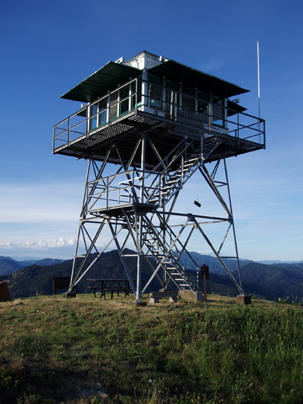 Hirz Mountain Lookout located on the McCloud Arm of Shasta Lake