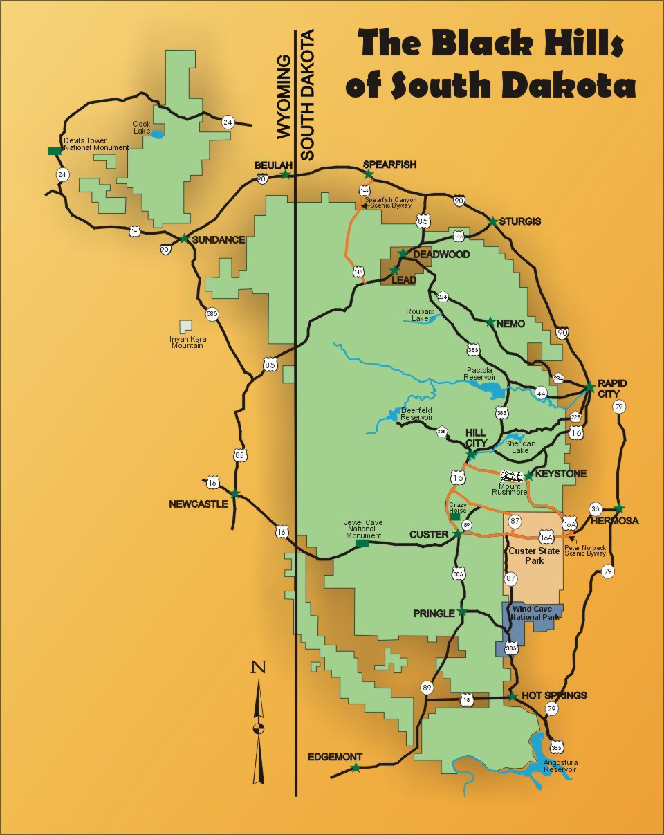 Black Hills National Forest Maps Publications