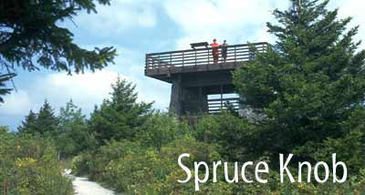 Spruce Knob Tower with People