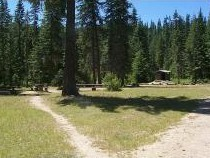 Photo of the wide open group site at Devils Elbow at Big Hank Campground