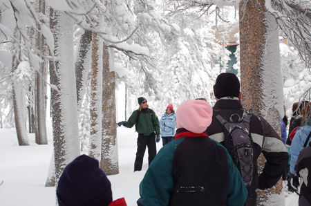 California Snow Ranger with kids - photo by USFS Jean Norman