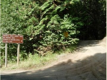 Photo of the Garnet Area trailhead