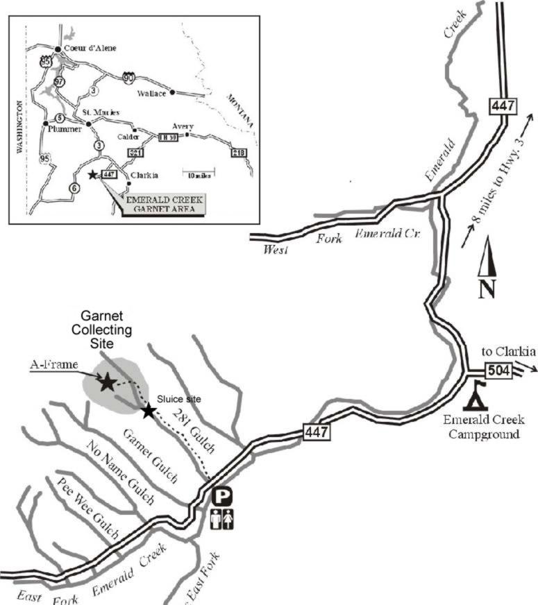Idaho Panhandle National Forests Emerald Creek Garnet Area