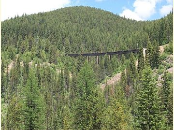 Photo showing one of the 7 trestles on the trail.