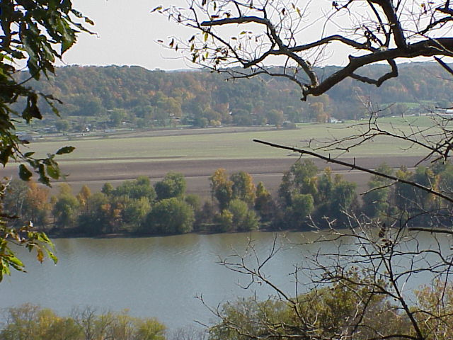 The Ohio River from US 7 along the byway.