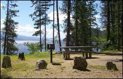 Photo of scenic Reeder Bay Campground