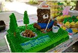 Smokey Bear's 65th Birthday cake.