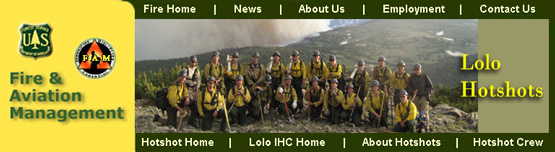 banner for the Lolo NF hotshots