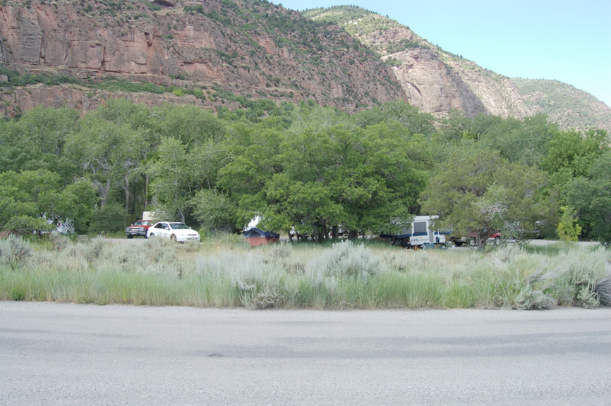 Image of Maple Grove Campground on the Fillmore Ranger District.
