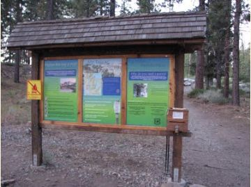 Welcome sign at the Mt. Tallac Trailhead