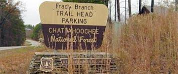 [Photo] The entrance sign to the Frady Branch multi-use trail system.