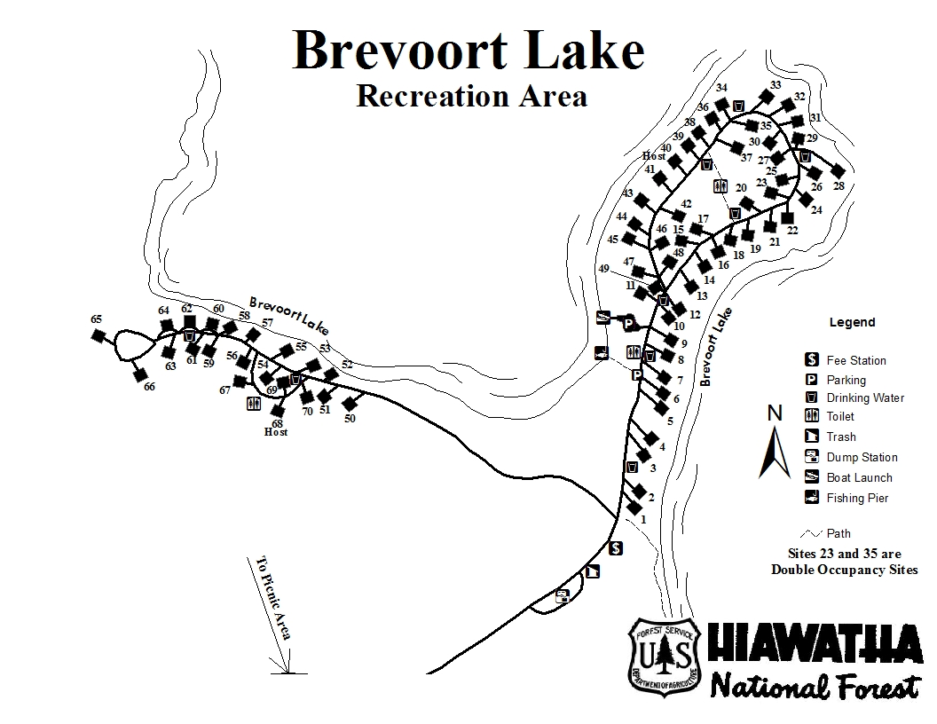 Brevoort Lake Campground Sites