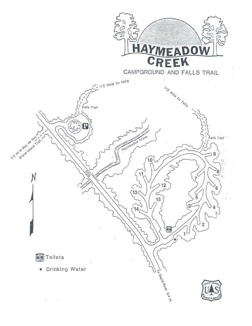 Haymeadow Creek Campground Site Map