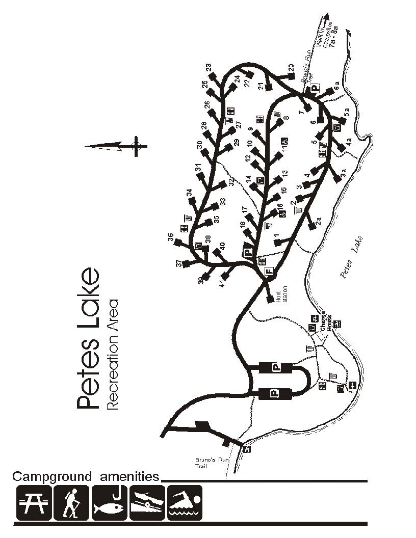 Petes Lake Campground Site Map