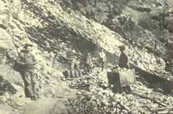 Discover of Wedge Mine, located on April 21, 1894