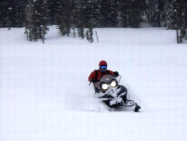 Photo of a snowmobiler