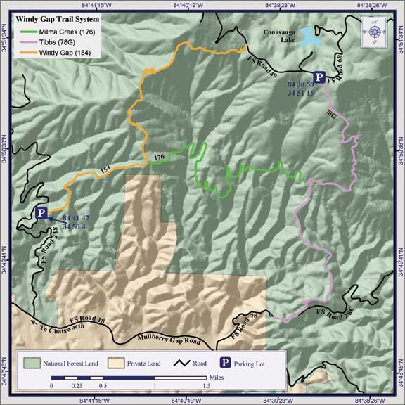 Chattahoochee-Oconee National Forests - Windy Gap, Milma ... on gap dayton map, gap bike path map, oklahoma atv trails map, fulda gap map, delaware water gap map,