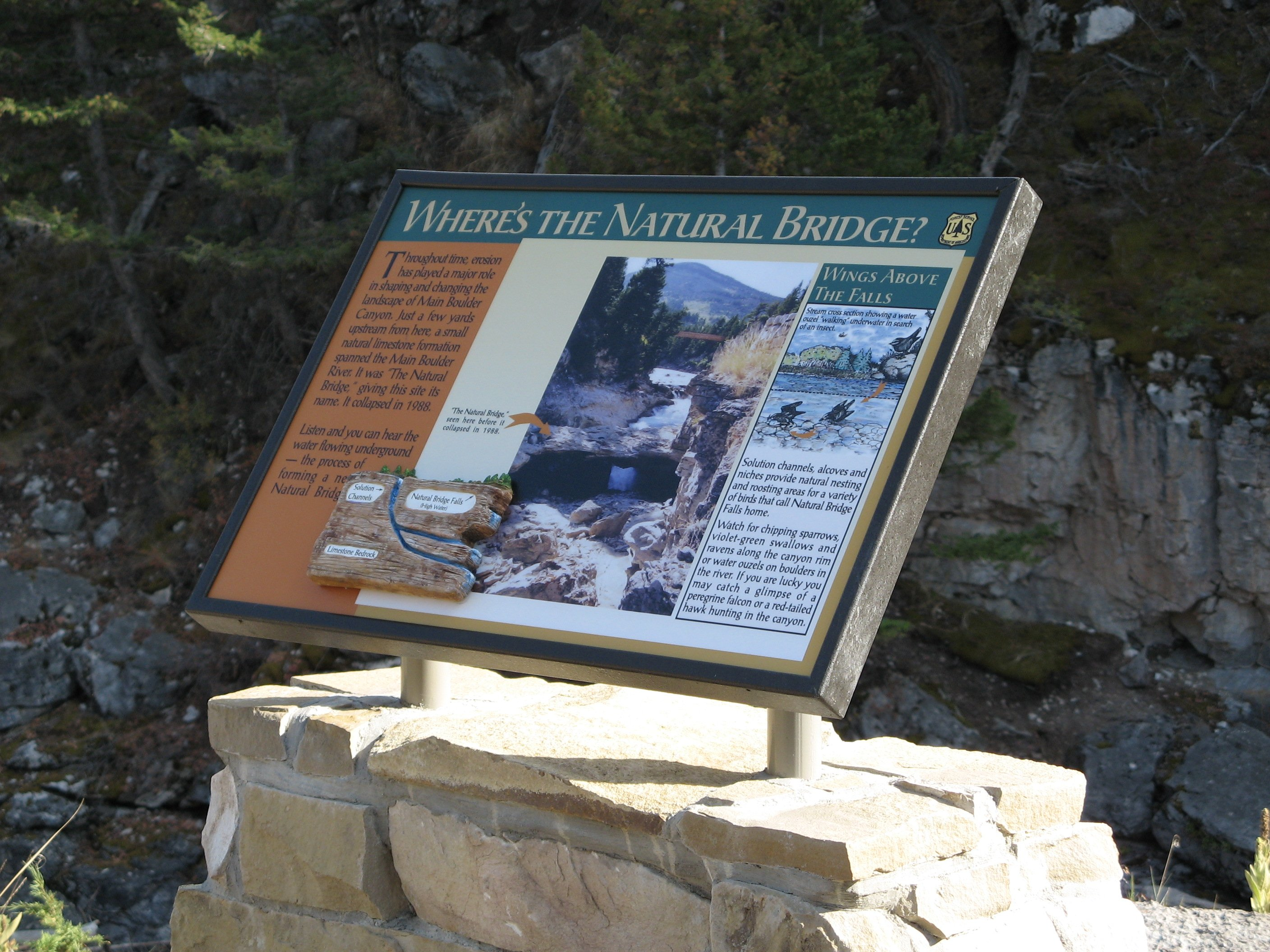 Natural Bridge Falls Picnic Area - Interpretive Panel