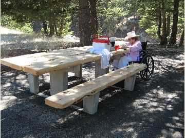Natural Bridge Falls Picnic Area - Table