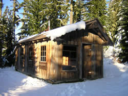 McCoy Shelter in snow