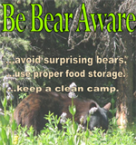 Image of the Be Bear Aware poster