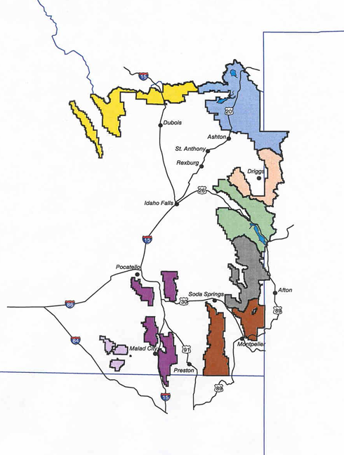 Caribou Targhee National Forest Districts